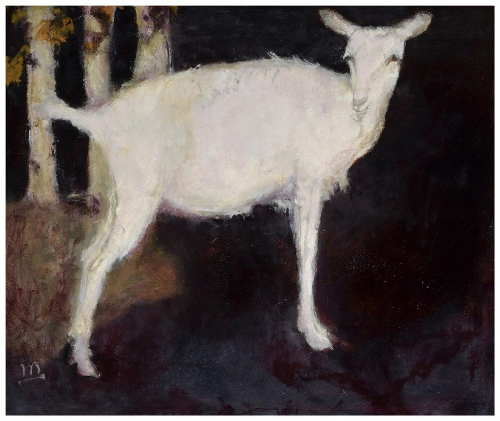 young_white_goat,_(after_Jan_Mankes),24x20,framed,$650