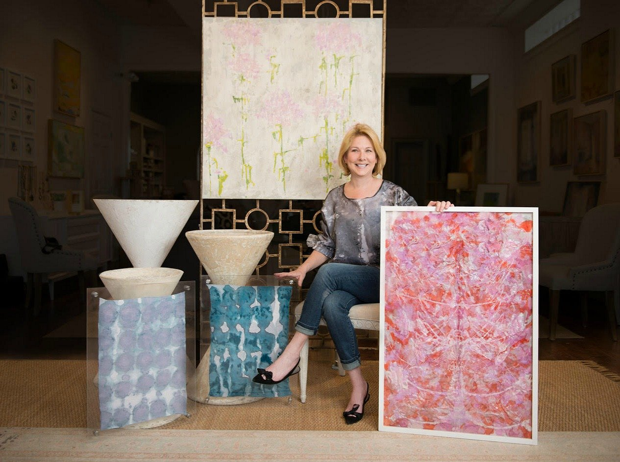 Artist Laura Talley at Palette Home